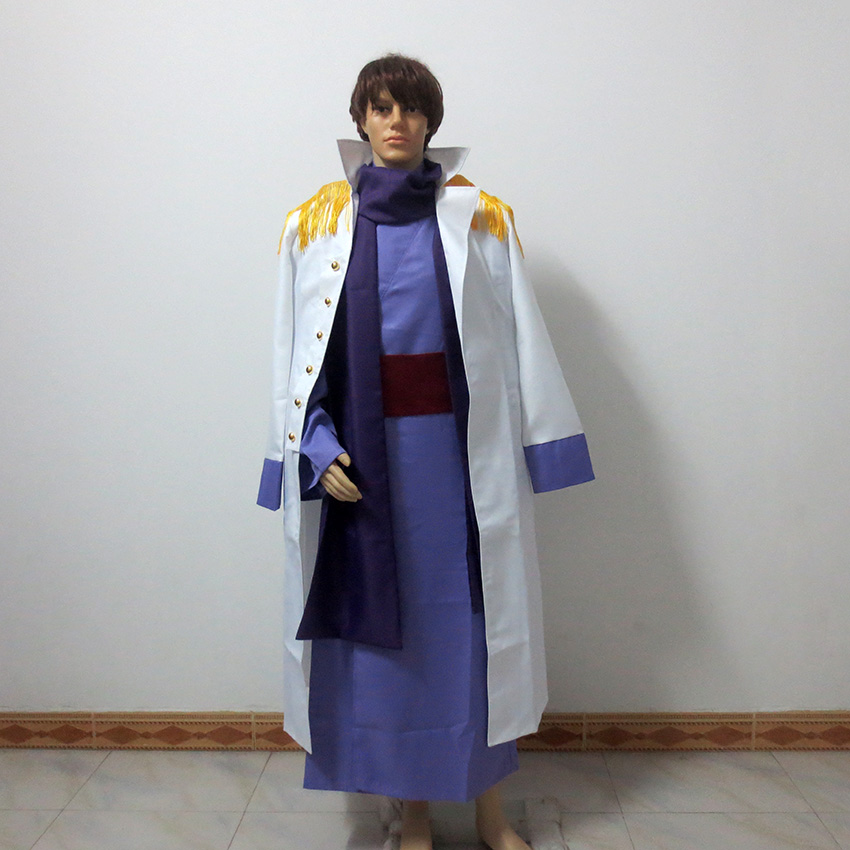 One Piece Fujitora Issho Cosplay Costume Admiral Fujitora Cosplay Marine Trench Custom-made Any Size