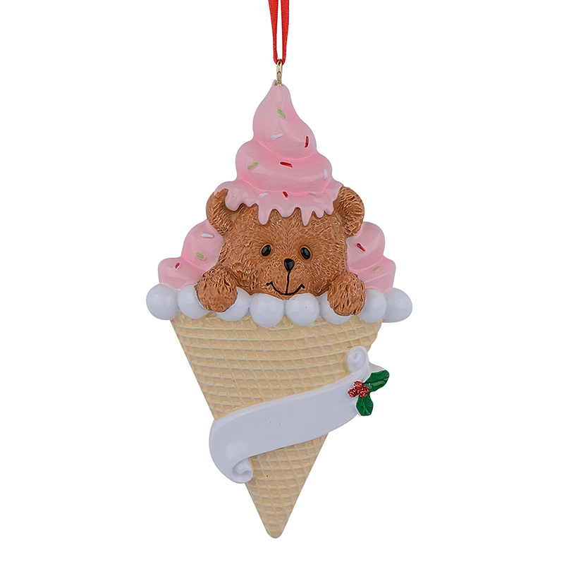 Bear ice cream resin handcraft baby 1st christmas for 3d printer cake decoration