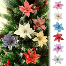 1Pcs 15CM Christmas Flower For Wedding Party Garland Decoration Plastic Sticky Powder Inventory Clearance Random Color