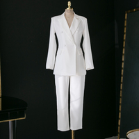 Solid color suit suit women's new European and American fashion Slim temperament business OL professional commuter suit JQ698
