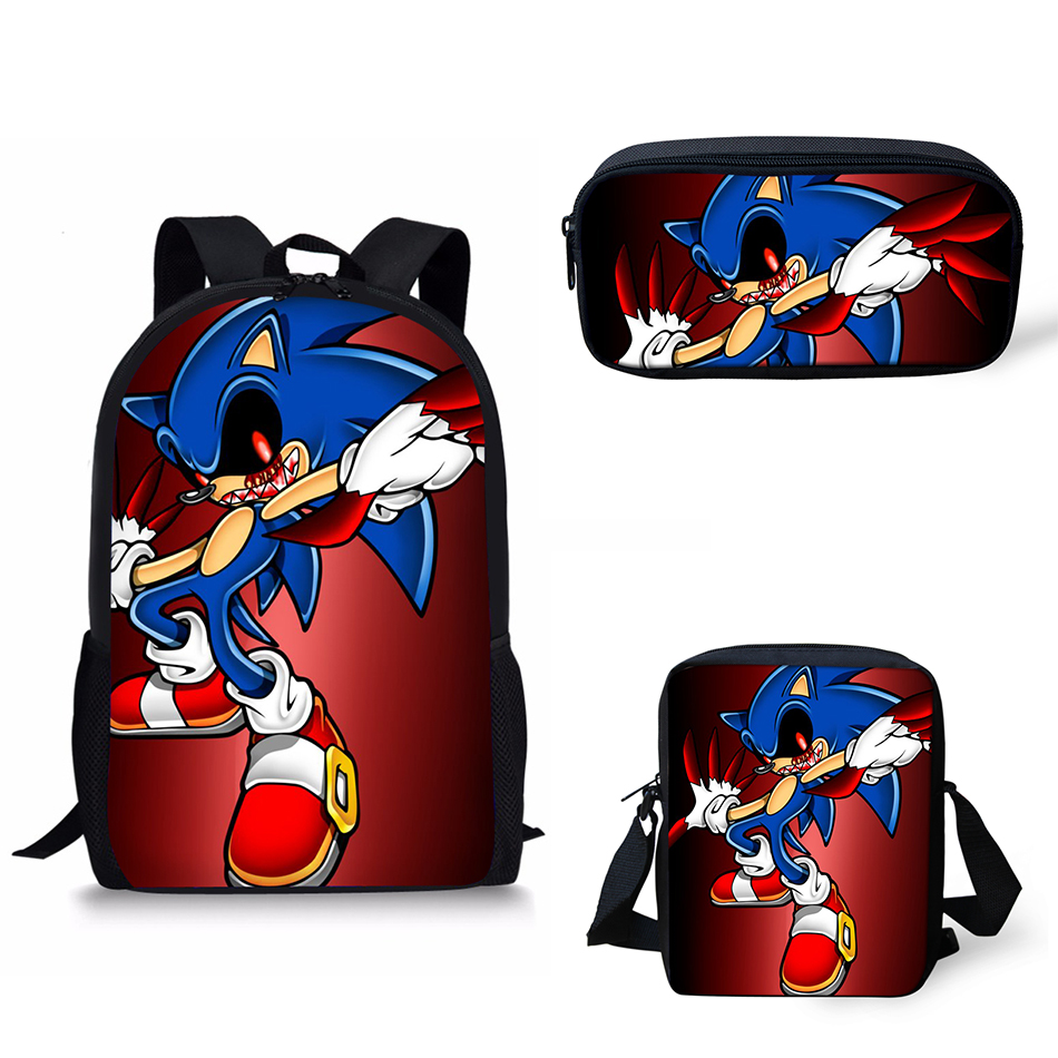 Customized School Bags Sonic The Hedgehog Print School Backpack For Girls Boys Orthopedic Schoolbag Backpacks Children Book Bag