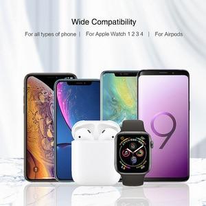 Image 3 - RAXFLY 3 in 1 Telefon şarj tutucu iPhone X XS Max XR 8 7 Kablosuz Manyetik şarj standı Istasyonu Için Apple izle 4 Earpods