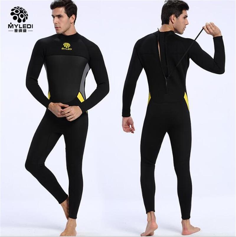 MYLEGEND Neoprene Wetsuit 3mm Diving Suit Warmer Winter Swim Long Sleeve One-piece Swimsuits Shirt Jacket Surfing Wear Equipment