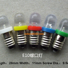 E10 3 В 6 В 9 В 12 В 24VDC Светодиодная лампа для DIY Лионель 10 шт