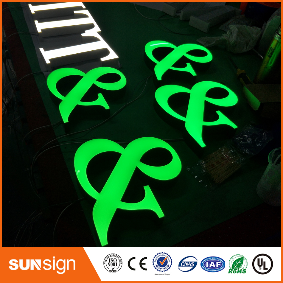 Custom Made LED Resin Letters And Signs