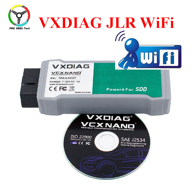 Newly VXDIAG VCX NANO JLR For Jaguar For Land Rover Car Diagnostic Scanner Powered By SDD 145 For 12V 24 V Cars Trucks Free Ship avel avs400dvr 02 для jaguar land rover