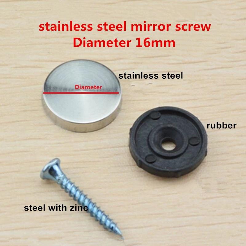 20sets 16mm diameter stainless steel cap cover decorative mirror screw for furniturechina mainland - Decorative Screws