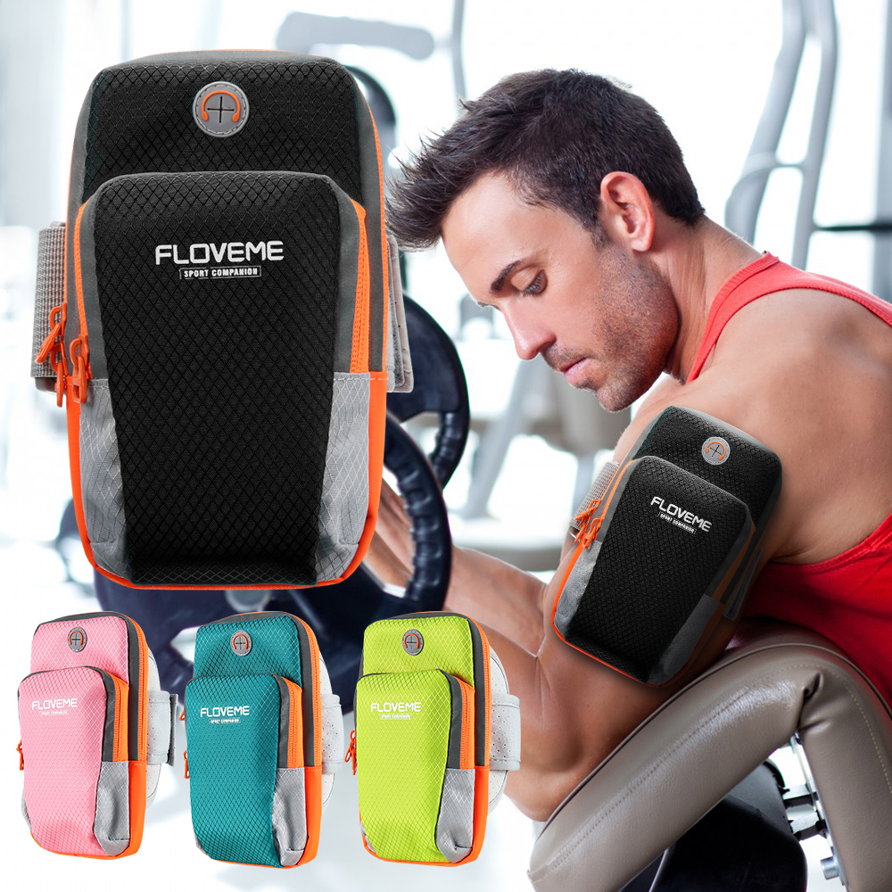FLOVEME Arm Band Sport Phone Bag Case For iPhone X 8 7 6 Plus Samsung S9 S8 Plus Xiaomi Pouch Running Outdoor Accessories Cases armband for iphone 6