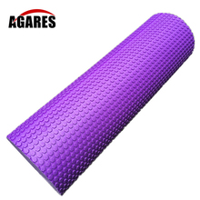 60cm length Solid massage muscles Relax roller yoga column foam floating point axis mace EVA Pilates fitness bar