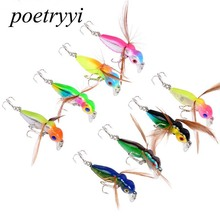 POETRYYI 1pcs Fishing Lure Little bee different color Salmon Flies Trout Single Dry Fly Lures Tackle 30