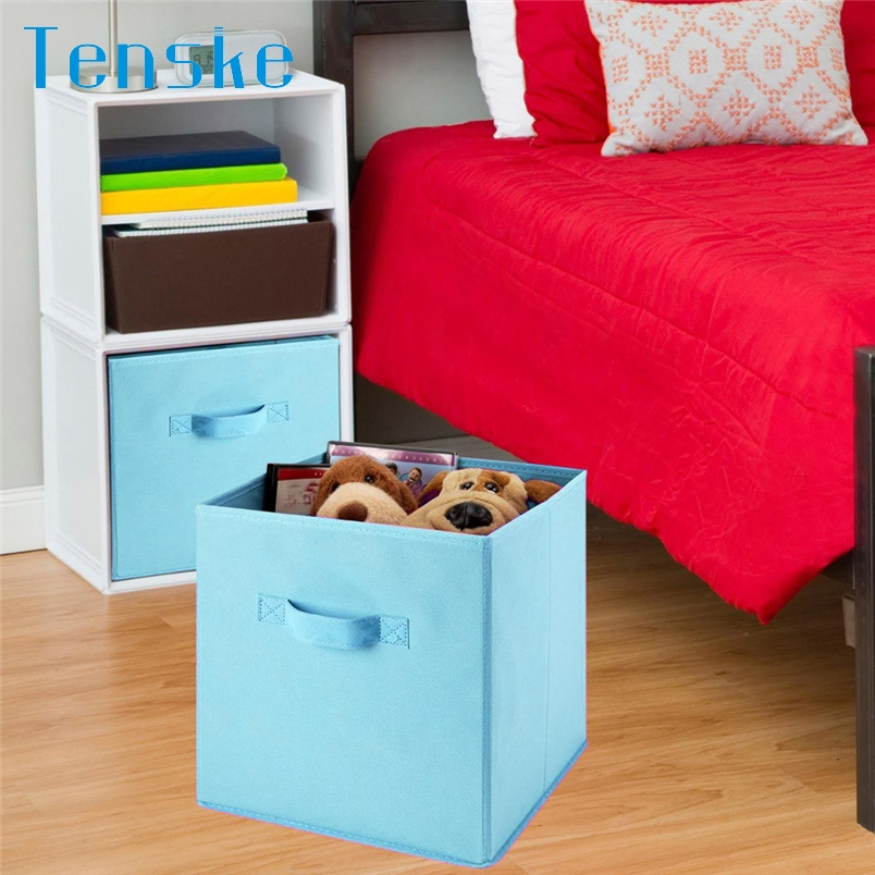 Nice Tenske Storage Box Organizer Foldable Storage Collapsible Box Home Clothes  Organizer Fabric Cube*30 GIFT
