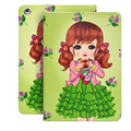 Para ipad air 2 caso de dibujos animados de moda bebé girls faux leather ultra delgado caso de la cubierta para funda ipad air capa para navidad regalo