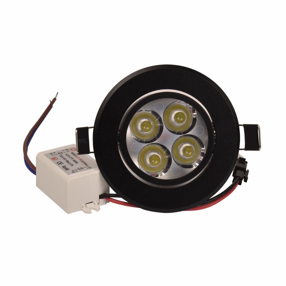 3W 4W 5W Led Downlight Dimmable 110V 220V Սև Shell կլոր - Ներքին լուսավորություն - Լուսանկար 5