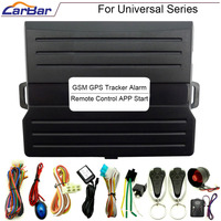CARBAR IOS Android Universal Car Alarm Security System GSM GPS Tracker Keyless Entry Central Lock APP Remote Control Start