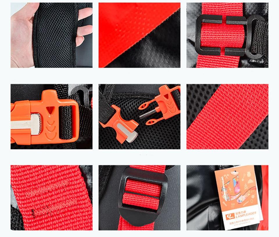 Calidad 30L bolsas a prueba de agua de almacenamiento Dry Sack bolsa para Canoa Kayak Rafting deporte al aire libre de la piscina bolsas Kit de viaje mochila - 4