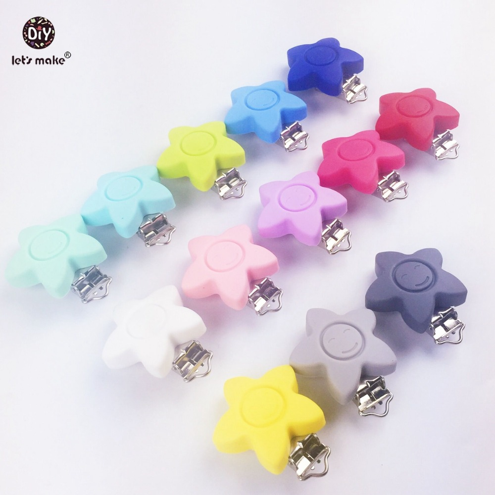 Lets make Baby Teether Pacifier Silicone Sun Clip Ecofriendly Dummy Clips 10pc Crafts Accessories Clip Adapter Silicone Teether