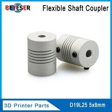D19L25 5x8mm CNC Motor Jaw Shaft Coupler Flexible Coupling OD19x25mm for RepRap 3D Printer or CNC Machine стоимость
