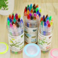 12/18/24/36colors water soluble color pencil crayons Rotary Free cutting Child Pen Painting Drawing Art school Student supplies|  -