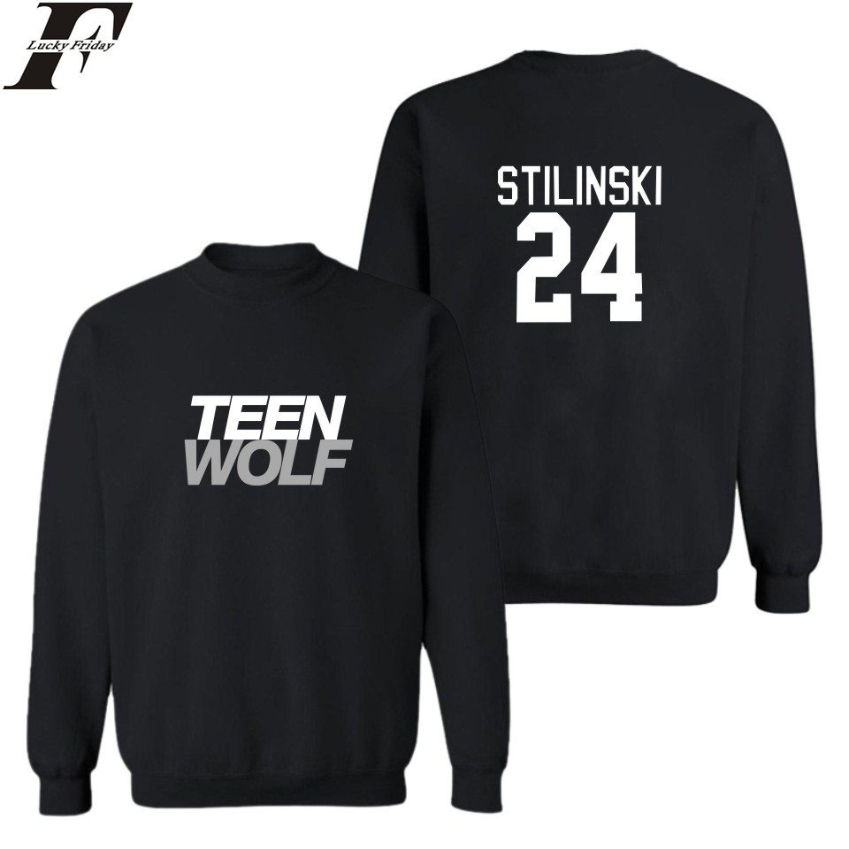 LUCKYFRIDAYF Men Autumn European Style Fashion Casual Mens Teen Wolf Sweatshirt Man Fleece Hoodies Sweatshirt Teen