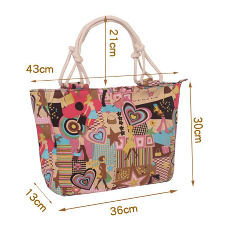 2019 Fashion Women Bags Girl Student Cotton Linen Single Shoulder Bag Female Canvas Handbag Shopping Bags Women Pouches in Top Handle Bags from Luggage Bags