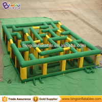 Giant maze for sale high quality 11X9M inflatable maze factory price cube labyrinth inflatable sport games for children carnival