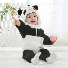 SAILEROAD Panda Bodysuit for Newborns Pajamas Winter Flannel Baby Sleep Gown Clothing Newborn Blanket Sleepers Clothing