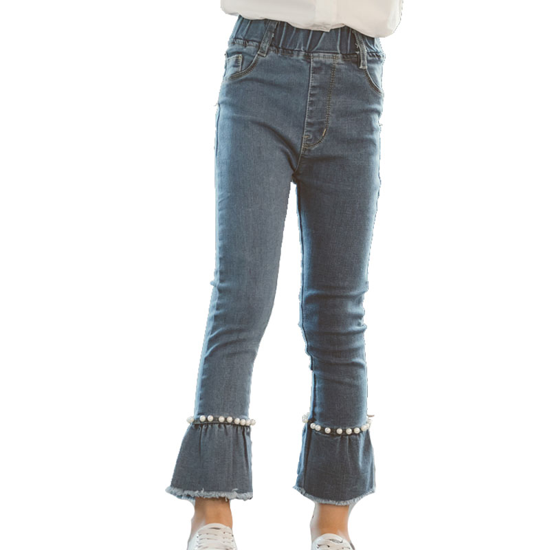 eb75e11ed944ec Ragazze Elastico Skinny Figura Bell-Bottom Pantaloni Dei Capretti Del  Bambino Dei Jeans di Modo. US $13.19. Abiti Denim Per Le Ragazze Dei Vestiti  ...