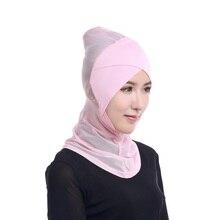 Womens Muslim Hijab Ninja Underscarf Head Islamic Cover Bonnet Hat Cap Scarf