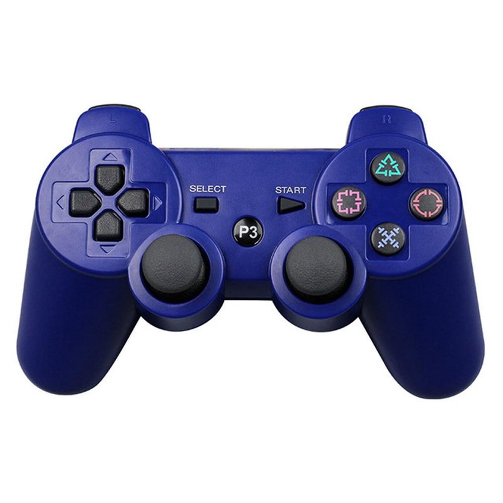 JIELI Bluetooth inalámbrico controlador de Color sólido para Sony PlayStation Dualshock 3 PS3 controlador Gamepad vibración