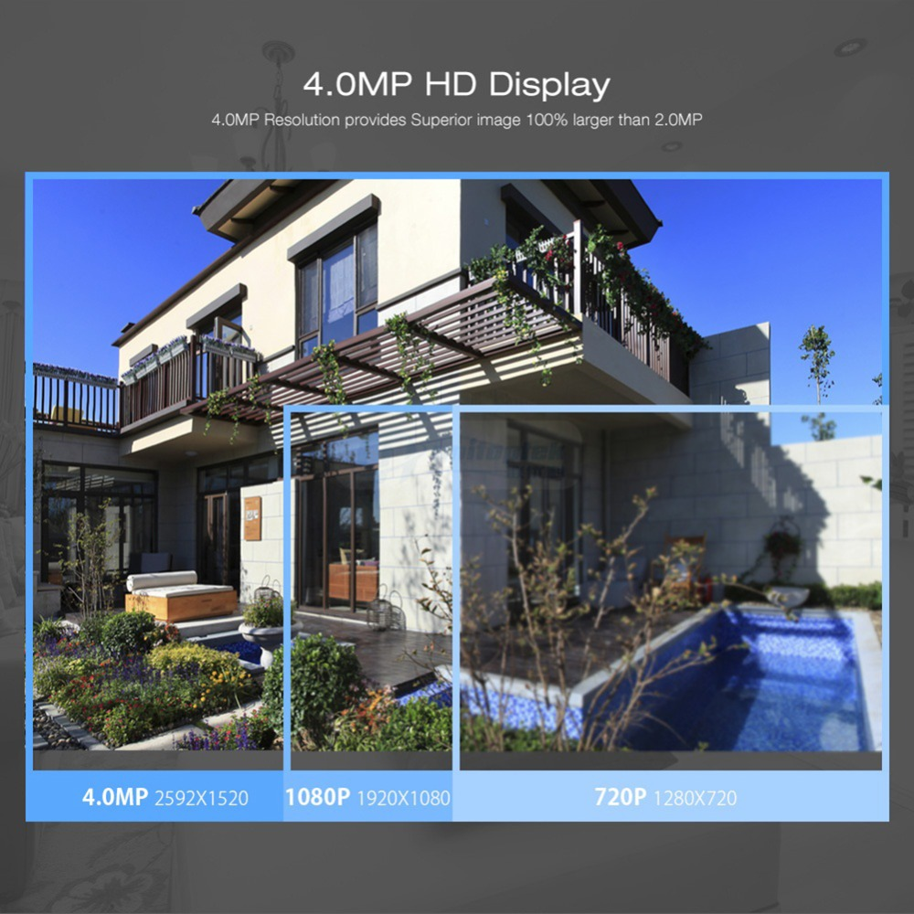 Image 5 - HD H.265 4.0MP POE Security Camera CCTV System 4CH / 8CH NVR With 2592*1520 IP Camera Outdoor Day/Night Video Surveillance Kit-in Surveillance System from Security & Protection