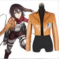 Attack on Titan Jacket Halloween Costume for women men Shingeki no Kyojin Coat Cosplay Leather cartoon Jackets crop top