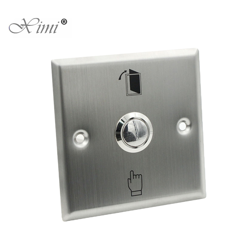 10pcs A Lot Free Shipping Good Quality Metal Exit Switch Exit Buttton 86 Release Exit Button For Access Control System10pcs A Lot Free Shipping Good Quality Metal Exit Switch Exit Buttton 86 Release Exit Button For Access Control System
