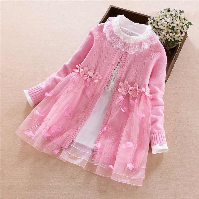 Girls Clothing Set Sweater Kids 2018 Spring Autumn Children Pom Pom Sweater Long Sleeve Girl Knitting Unlined Children `s Dress v neck lose fitting knitting pocket long sleeve men s sweater