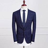 Brand New Men Blazer Casual Slim Fit One Button Blazer Men Korean 2017 Spring Business Dress