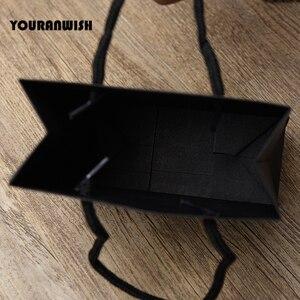 Image 5 - Sac cadeau en papier blanc noir de haute qualité