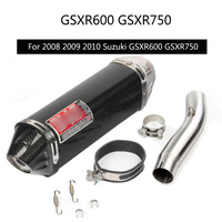 For 2008 2009 2010 Suzuki GSXR 750 GSXR 600 Exhaust Pipe Slip On 51 mm Motorcycle Exhaust Muffler Pipe with Mid Link Pipe Steel