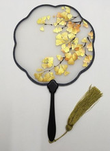High End Vintage Personalised Hand Fan Traditional Handmade Double Embroidered Chinese Mulberry Silk Ebony Handle Gift