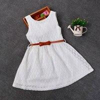 New Summer Lace Vest Girls Dress Baby Girl Princess Dress 2 8 Years Chlidren Clothes Kids