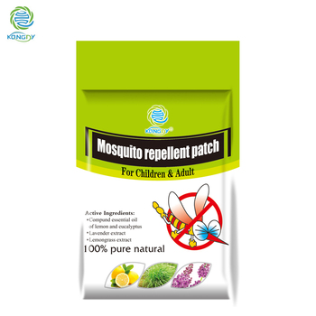 KONGDY 60 Pcs/Set Mosquito Repellent Stickers Natural Essential Patch Citronella Oil Mosquito Killer Cartoon Repeller Sticker
