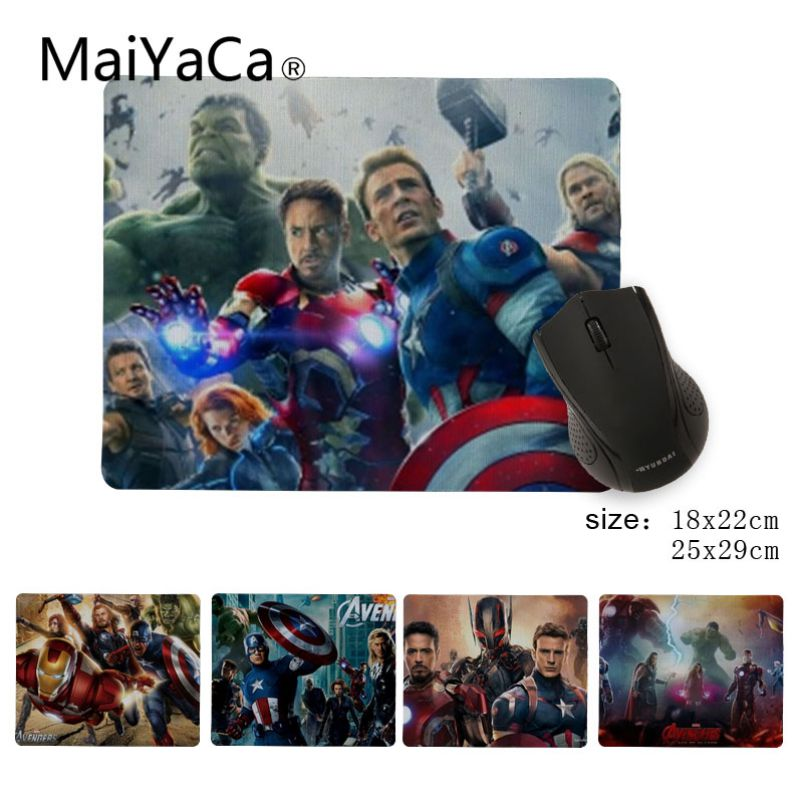 MaiYaCa Its a Marvel film Durable Rubber Mouse Mat Pad Size 25X29cm 18x22Gaming Mousepads