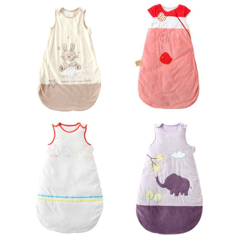 Sleeveless Sleep Sack 85*55cm Cotton Baby Sleeping Bag Children 0-3 Years Newborn Envelop