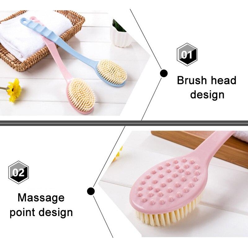 Тело спина скрабер отшелушивающий долго с ручкой ванна душ щетка для мужчин женщин 669