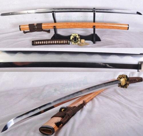 Tradice nejvyšší kvality Clay Tempered Folded Steel Japonský meč katana ostrý