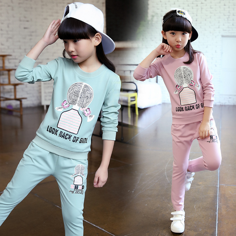2018 Children Clothing Set Baby's Sets Children's Kids Autumn Baby Outfit Sports Suit Set 1-4T Boys Girls Set Child Suit Clothes malayu baby kids clothing sets baby boys girls cartoon elephant cotton set autumn children clothes child t shirt pants suit