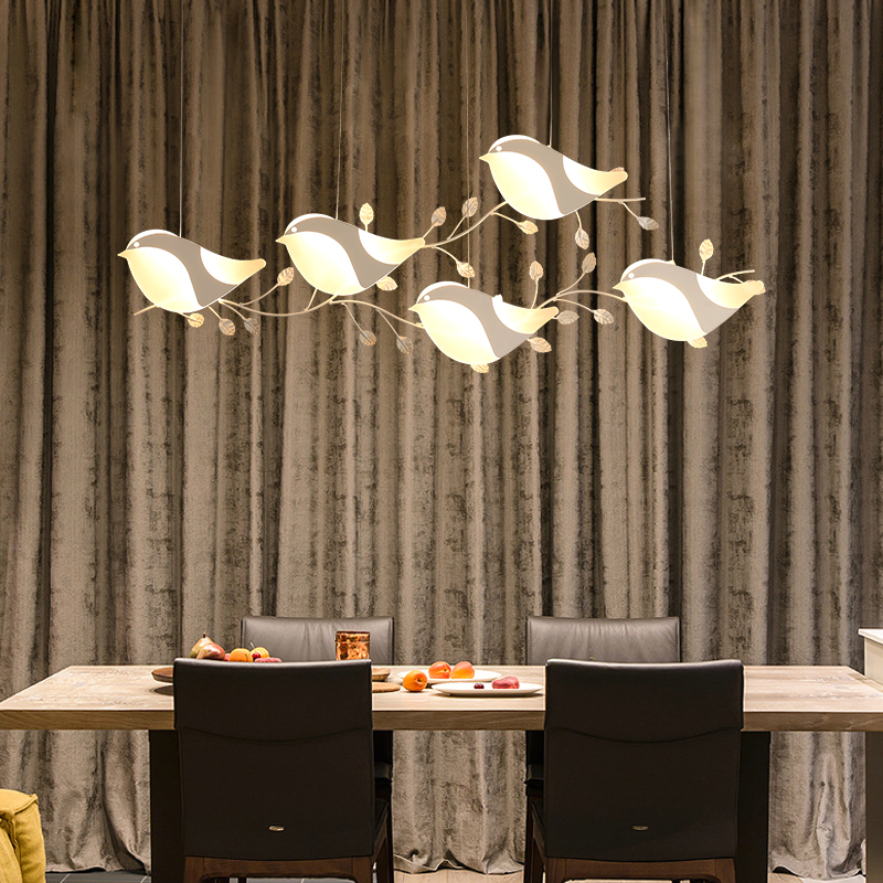Птица подвесные светильники для столовой гостиной кухни комнаты бар дома деко Pendtand лампы