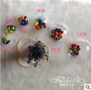 Free Shipping 5cm Transparent Ball Hanging Plastic Christmas