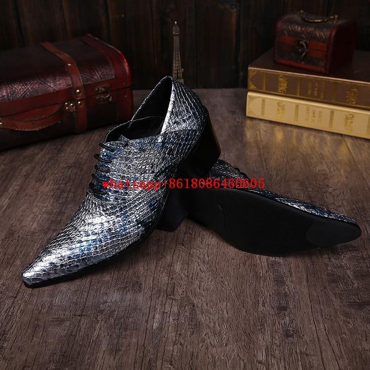 Cuero Encaje De Hombre As Vestido Tacones as Italiano Glitter Lujo Punta Oxford Picture Picture Azul Novia Para Oro Zapatos Estrecha Hombres Plata Altos qzYHZ