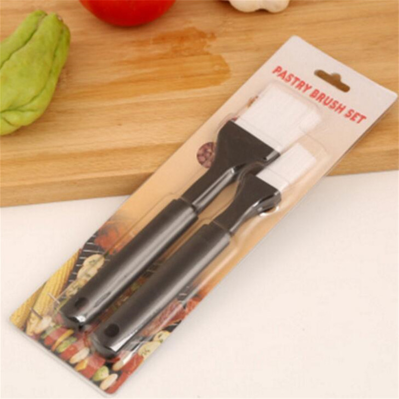 CTREE 2Pcs set Barbecue Brush Bristle Basting Handle Oil Barbecue Sauce Brush Grill BBQ Sauce Baking Kitchen Cooking Tools C322 in Other BBQ Tools from Home Garden