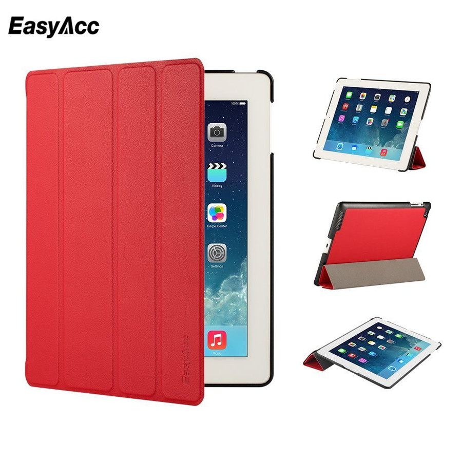 Easyacc Case For iPad 2 3 4 Cases Smart Auto Sleep Awake Flip Stand Full Protective Leather Cover
