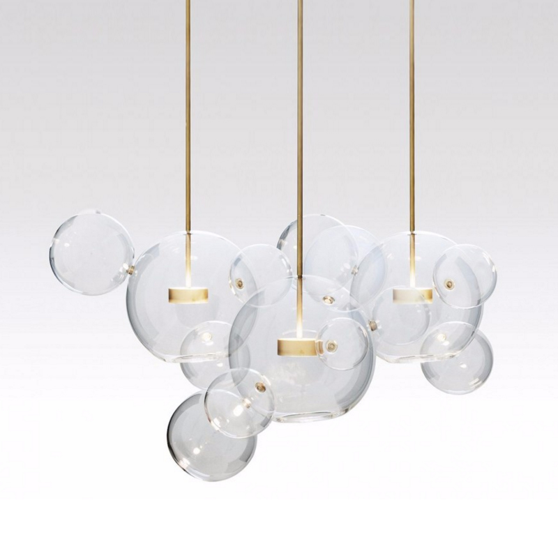 Modern Bolle Lamp Led Pendant Light Glass Globe Led Hanging Lamp Fixtures Indoor Lighting Lustre luminaria